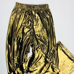 American Apparel Pants - SOLD! 💌 Gold Glitz & Glam High-Waisted Palazzos